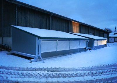Mobilstall Regio: Dank Vollisolation ist der Winter kein Problem.
