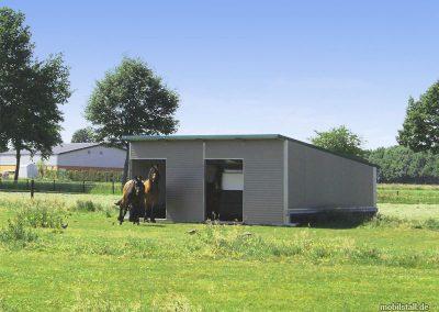 Mobilstall Regio: Beispielhafte Nutzung als Pferdestall.