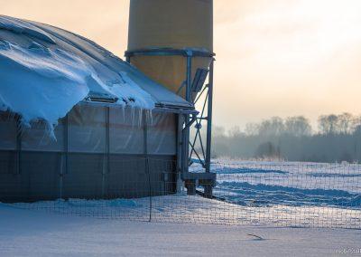 Mobilstall Rundbogen: Vollisolation gegen den Frost im Winter.