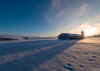 Mobilstall Rundbogen: Vollisolation schützt die Herde zuverlässig vor Kälte im Winter.