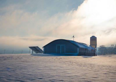 Mobilstall Rundbogen: Klimaschutz für die Tiere! Auch im Winter kein Problem.